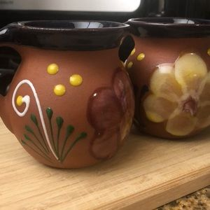 2 Terra Cotta Mugs